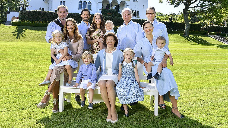 La familia en el Palacio de Sodillen. (Kungahuset)