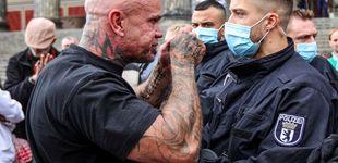 Post de Heridos 18 policías en una protesta en Berlín contra las medidas de restricción