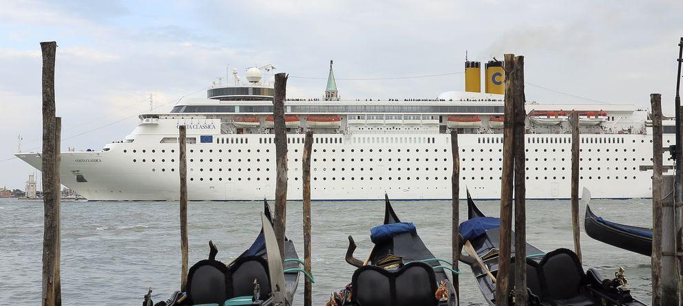 Foto: Crucero visto desde el lago de Venecia (Reuters)