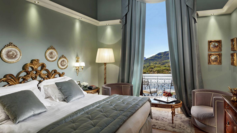 Así es una de las suites con vistas al lago del Grand Hotel Tremezzo. (Cortesía)