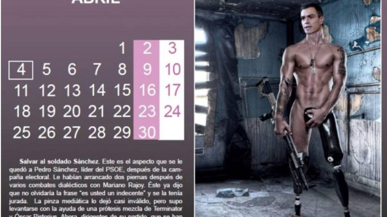 Pedro Sánchez también salió desnudo el año pasado.