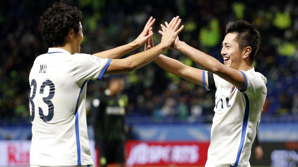 Foto: Los jugadores del Kashima celebran un gol (Reuters)