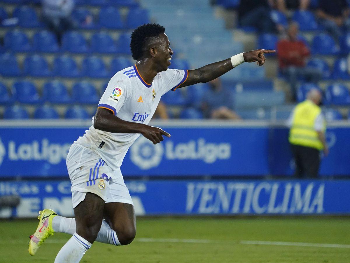 Foto: Vinícius Júnior sonríe tras marcar un gol. (Reuters)