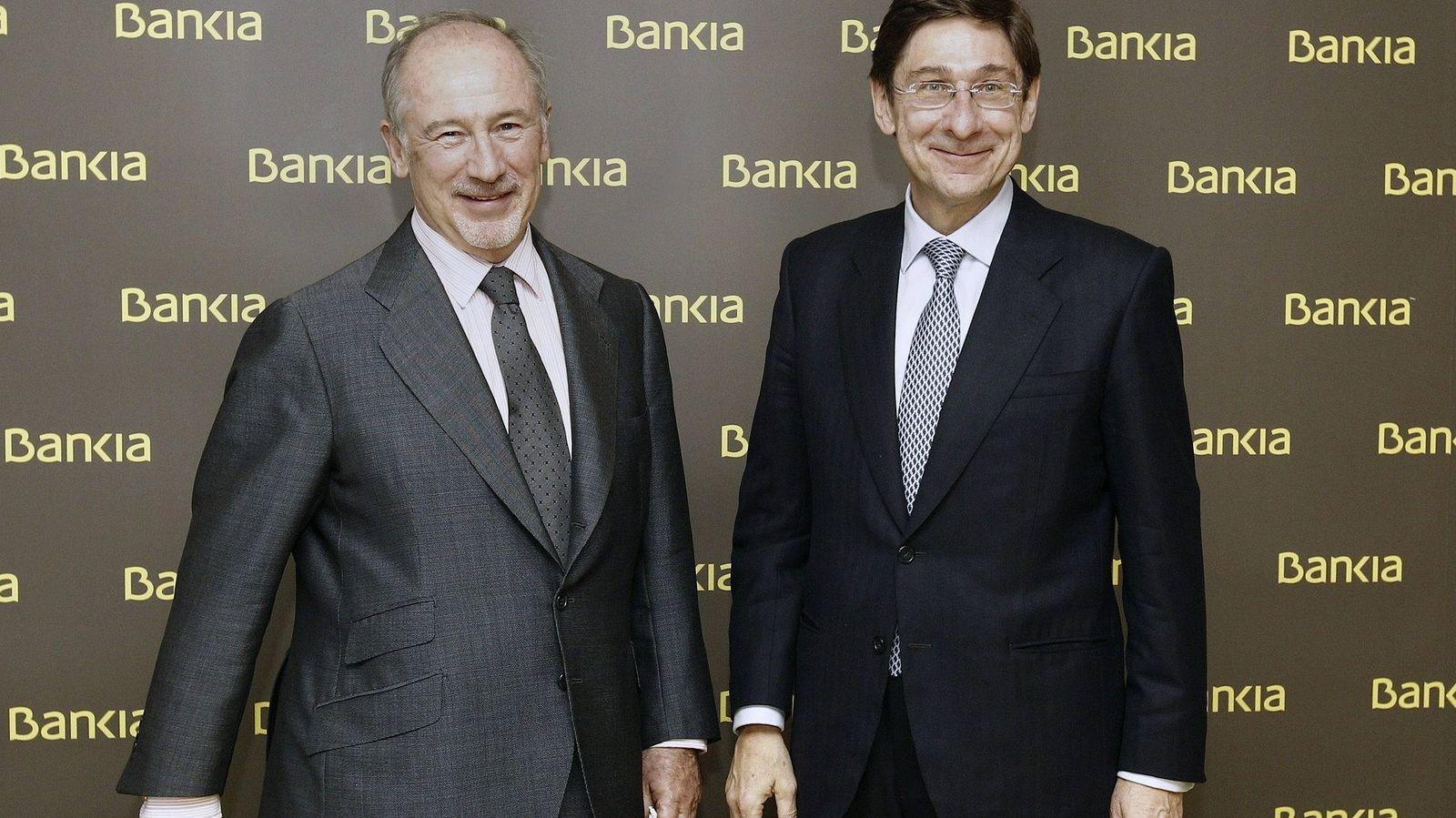 Foto: El presidente de Bankia, José Ignacio Goirigolzarri (d), y Rodrigo Rato. (EFE)