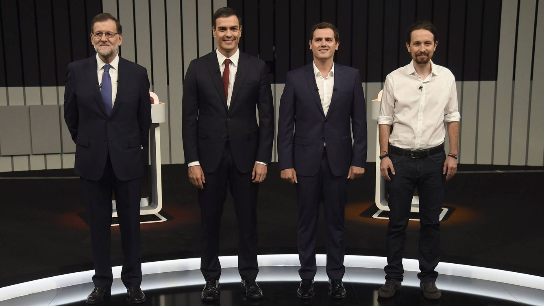Foto: Mariano Rajoy, Pedro Sánchez, Albert Rivera y Pablo Iglesias (Gtres)