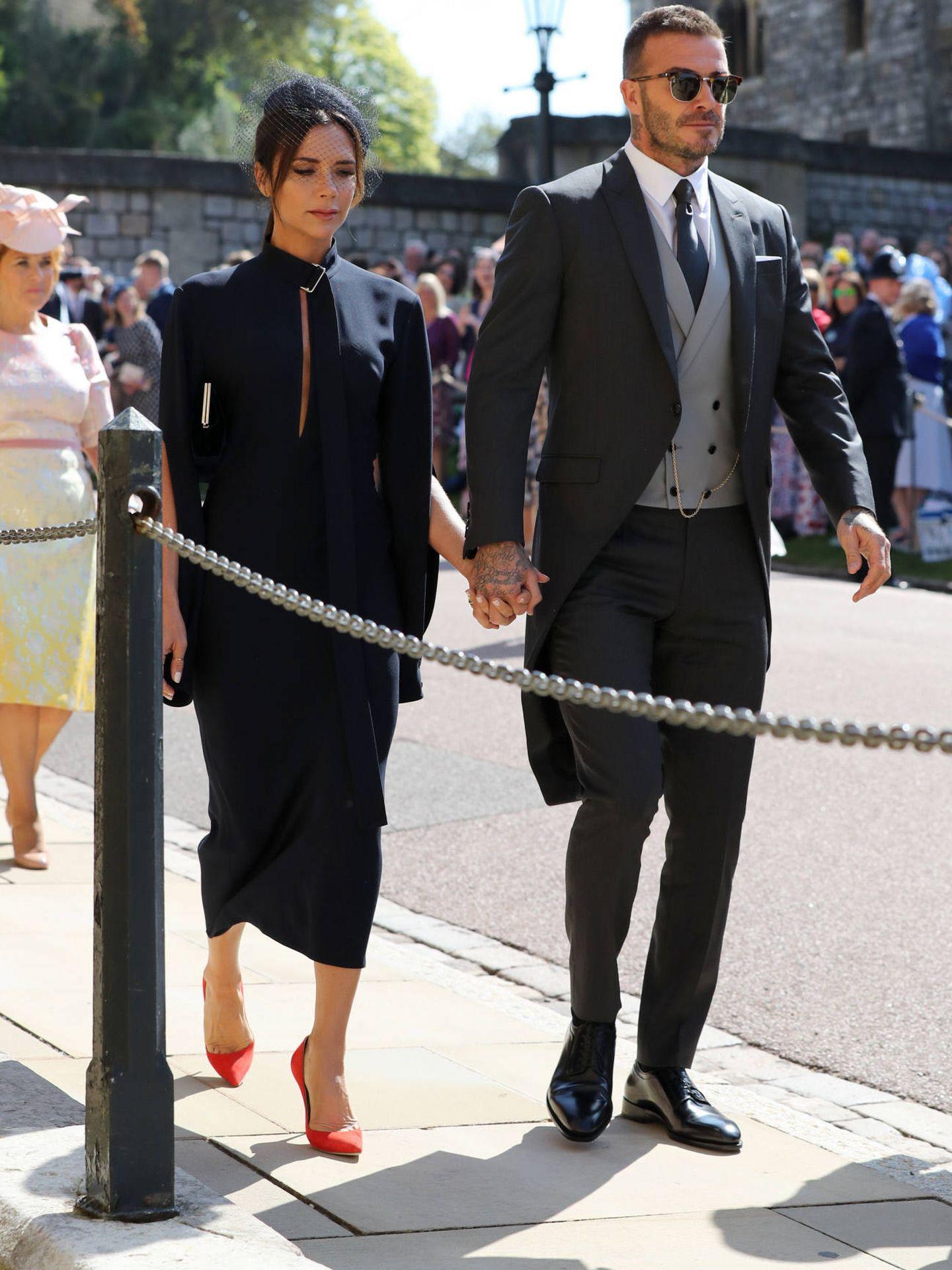 David y Victoria Beckham en Windsor. (Gtres)