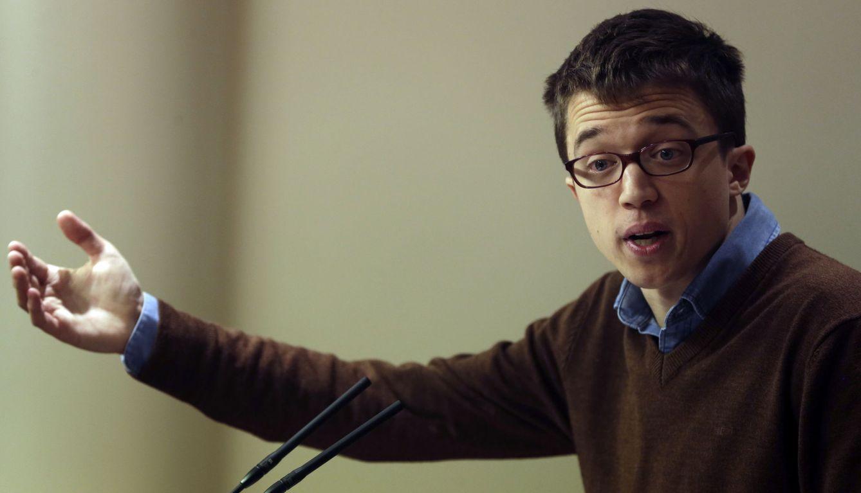 El portavoz parlamentario de Podemos, Íñigo Errejón, este martes. (EFE)