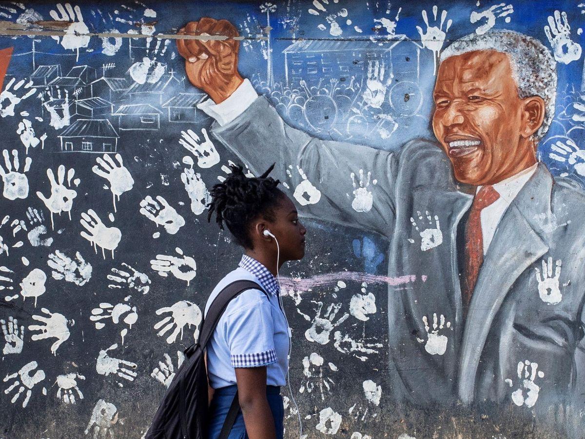 Foto: Un mural de Nelson Mandela, en Johannesburgo. (EFE)
