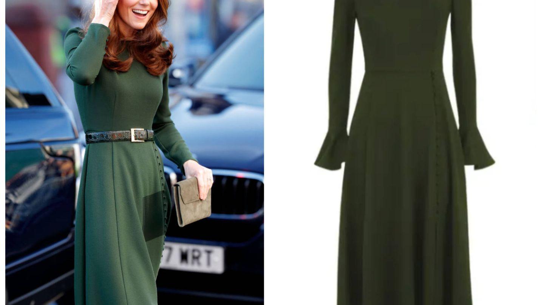 Kate Middleton, con vestido customizado de Beulah London. (Getty)