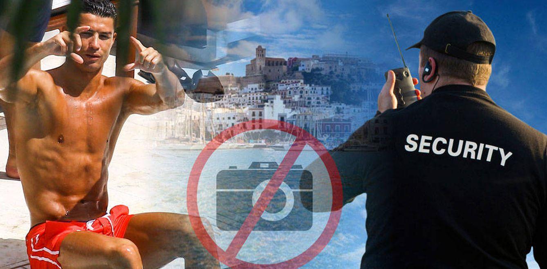 Cristiano Ronaldo ordena a sus 'gorilas' borrar las fotografías que le hicieron los clientes de un restaurante