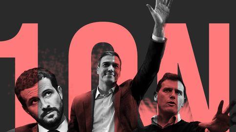 El PSOE gana (28,3%), el PP se acerca y Cs se hunde (10,7%) y empata con Vox