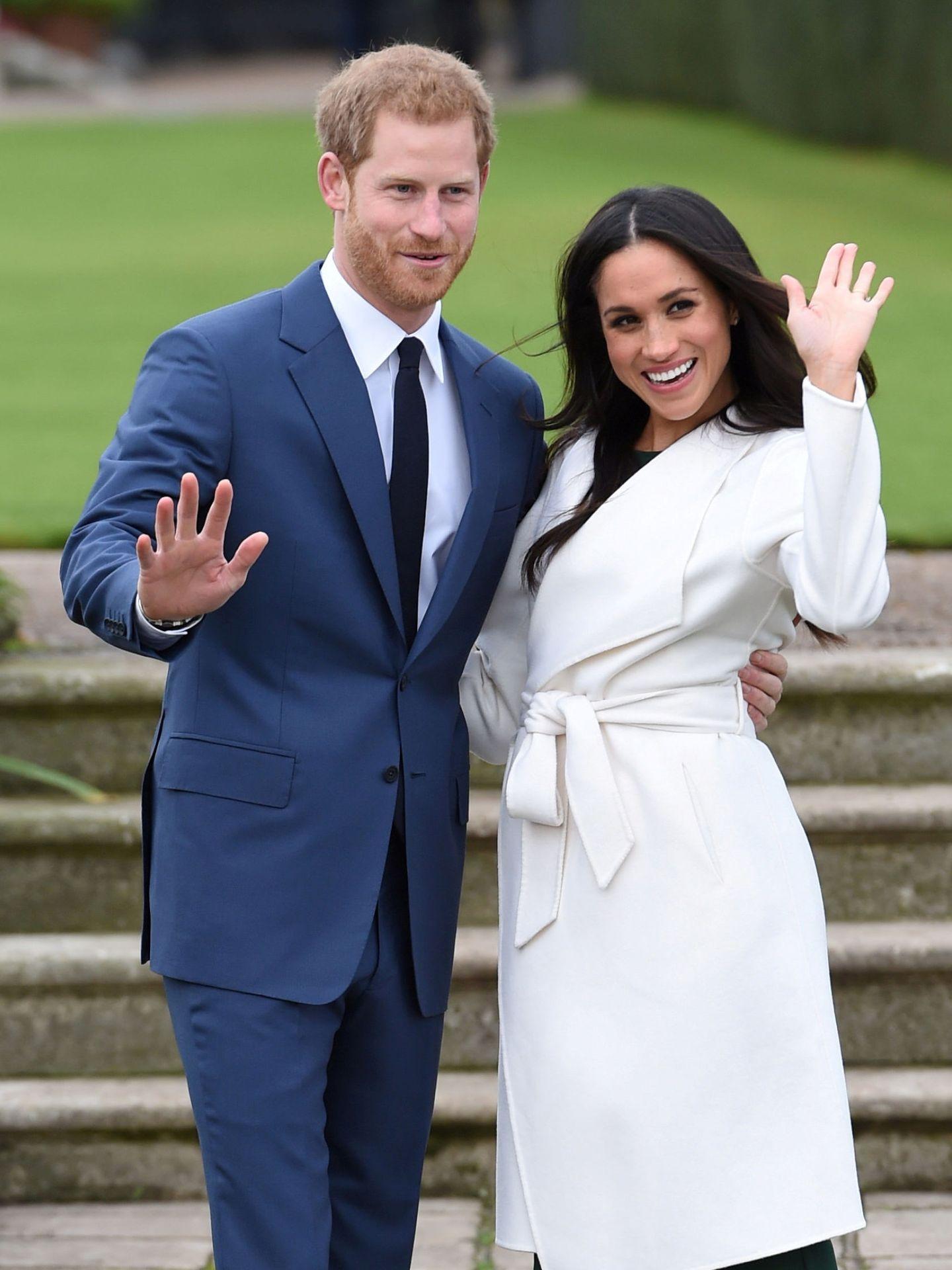Meghan y Harry, cuando anunciaron su compromiso. (Reuters)