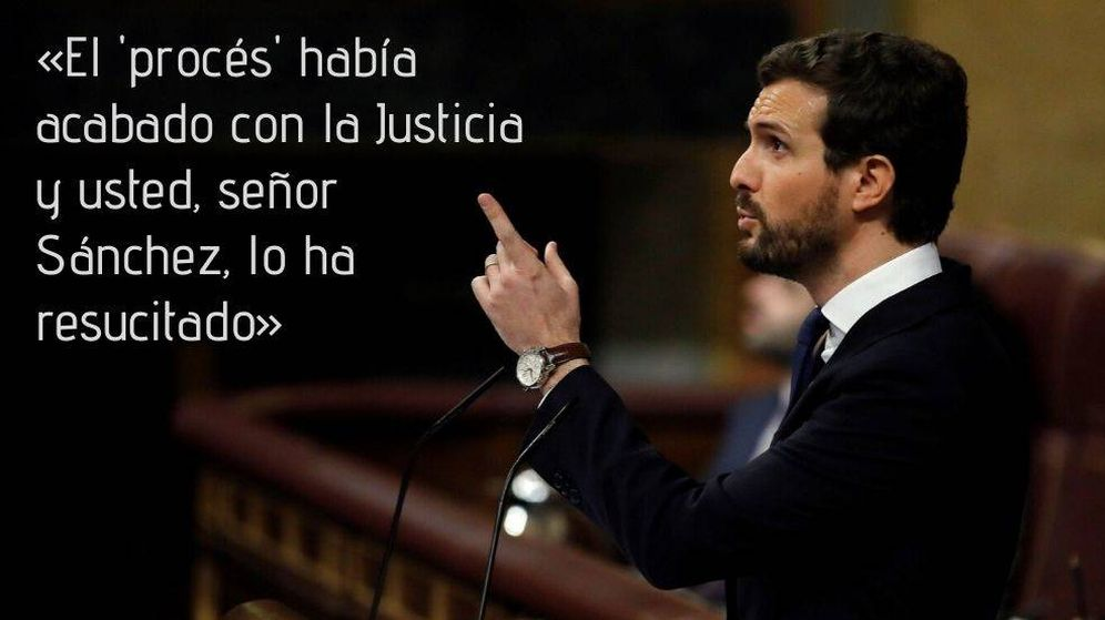 Foto: Las frases de Pablo Casado durante la sesión de investidura (EFE)