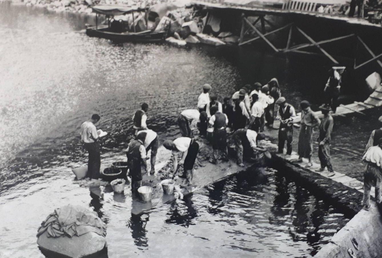 Miles de obreros levantaron la presa antes de la Guerra Civil. (Ayto. Muelas del Pan)