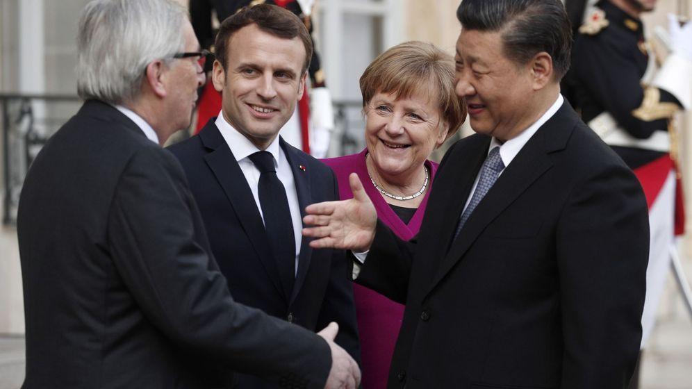 Foto: Líderes de Francia, Alemania y la Comisión Europea se reúnen con el mandatario chino en París. (EFE)