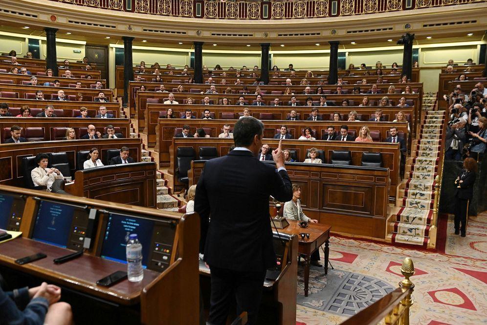 Foto: Sesión de control al Gobierno en funciones. (Fernando Villar/EFE)