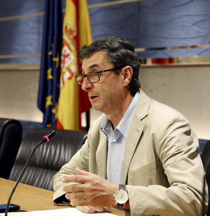 El diputado por Sevilla y secretario general del PCE, José Luis Centella. (EFE)