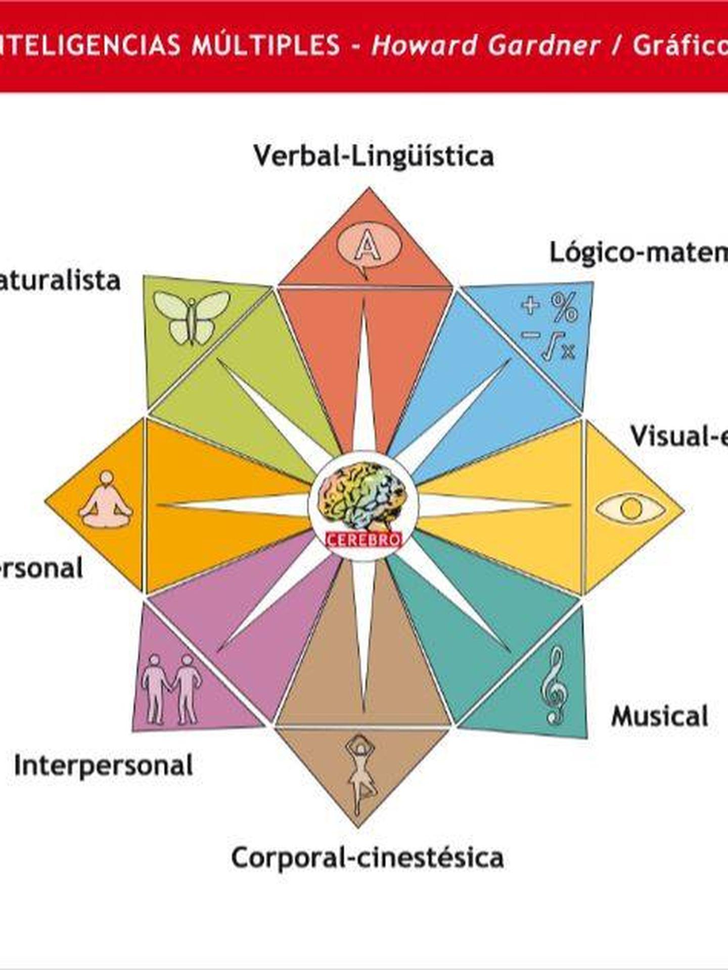 Gráfico explicativo de las Inteligencias Múltiples.
