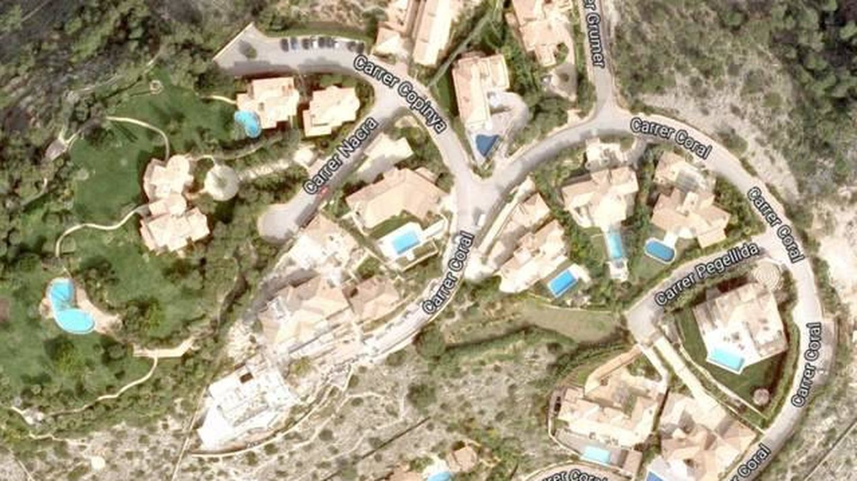Vista aérea de la urbanización 'Las Brisas', donde se ubica la mansión de los Schumacher. (Google)