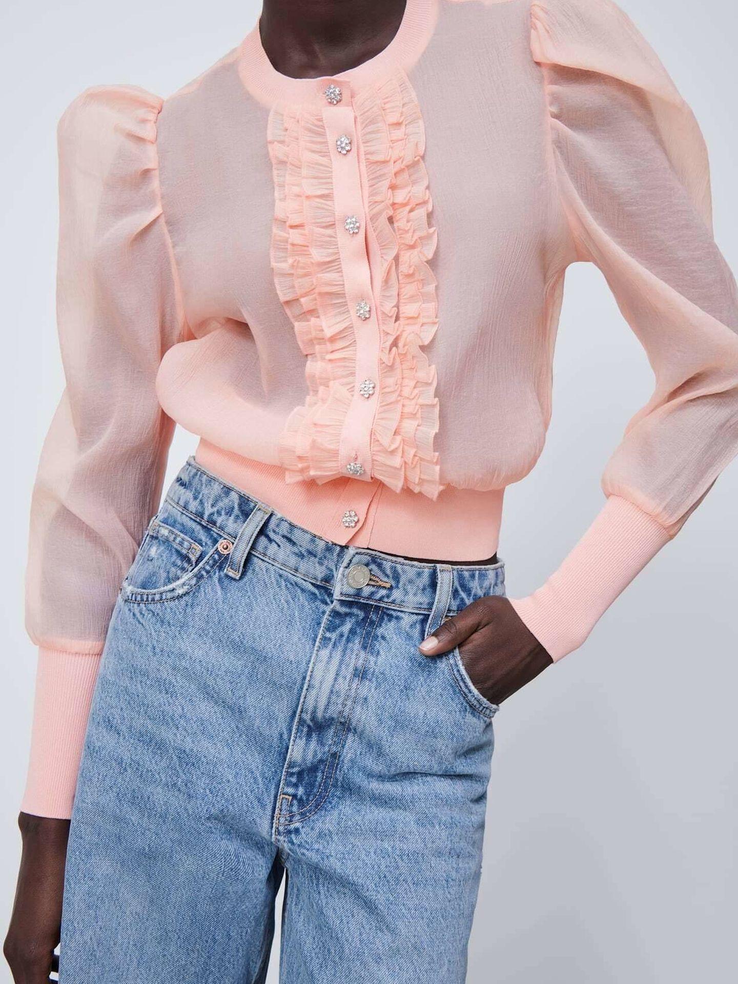 La chaqueta joya de Zara. (Cortesía)