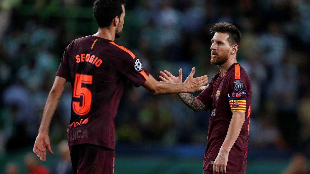 Foto: Busquets y Messi en un partido de Champions de esta temporada. (Reuters)