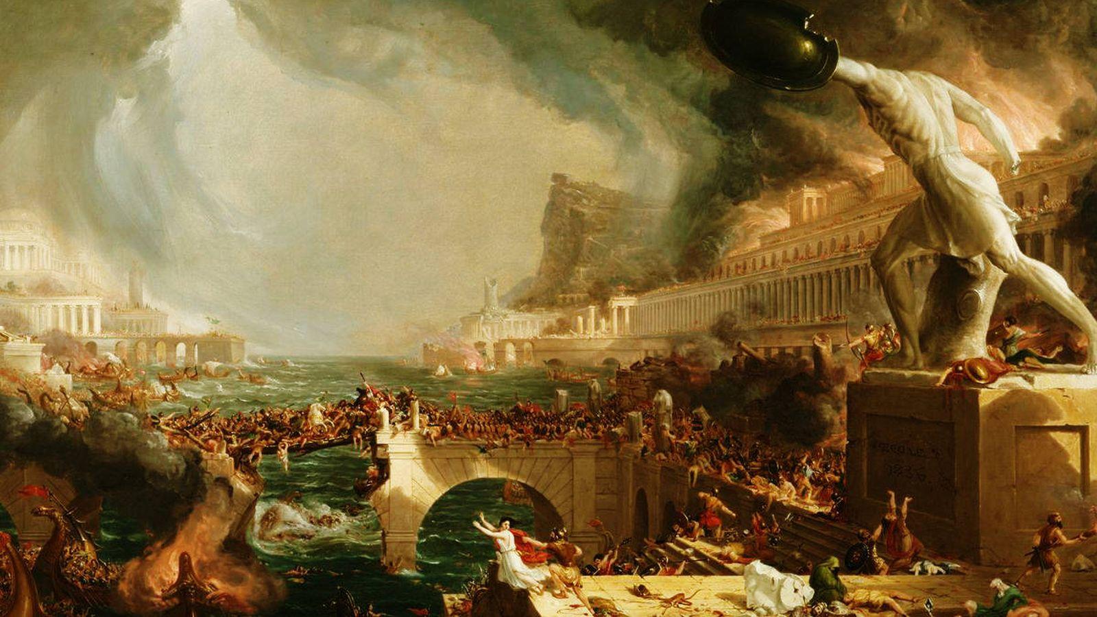 Foto: 'The Course of Empire - Destruction', por Thomas Cole (1836)