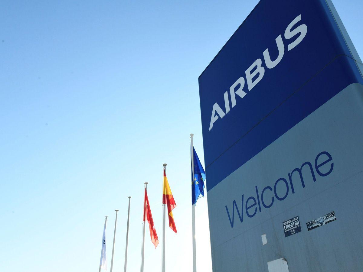 Foto: Entrada a la fábrica de Airbus en Getafe. (EFE)
