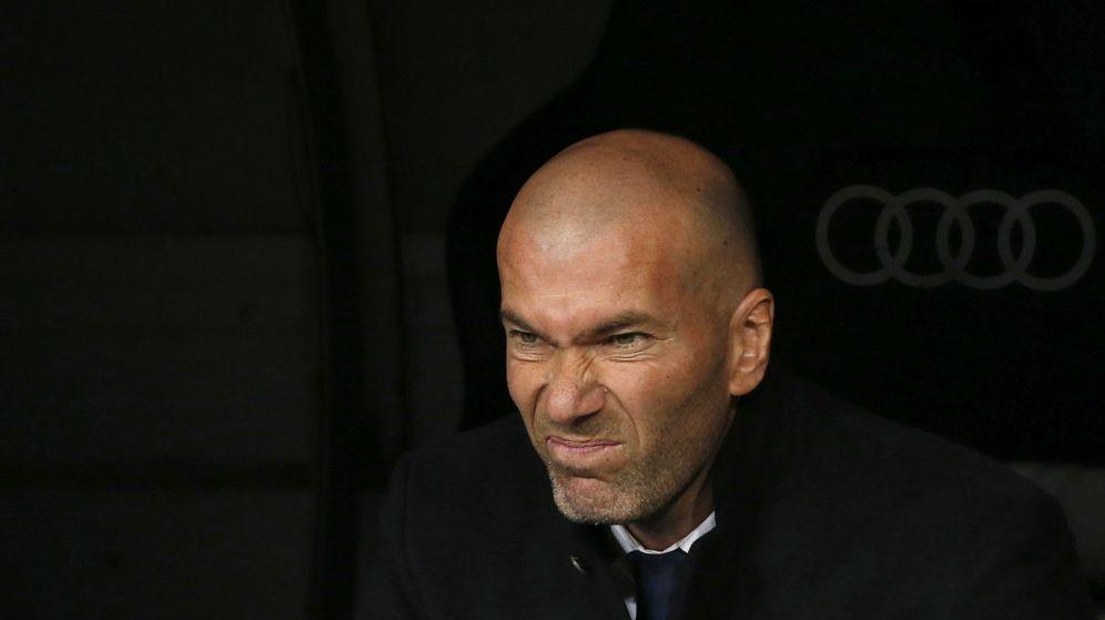 Foto: Zinedine Zidane durante el choque ante Las Palmas.