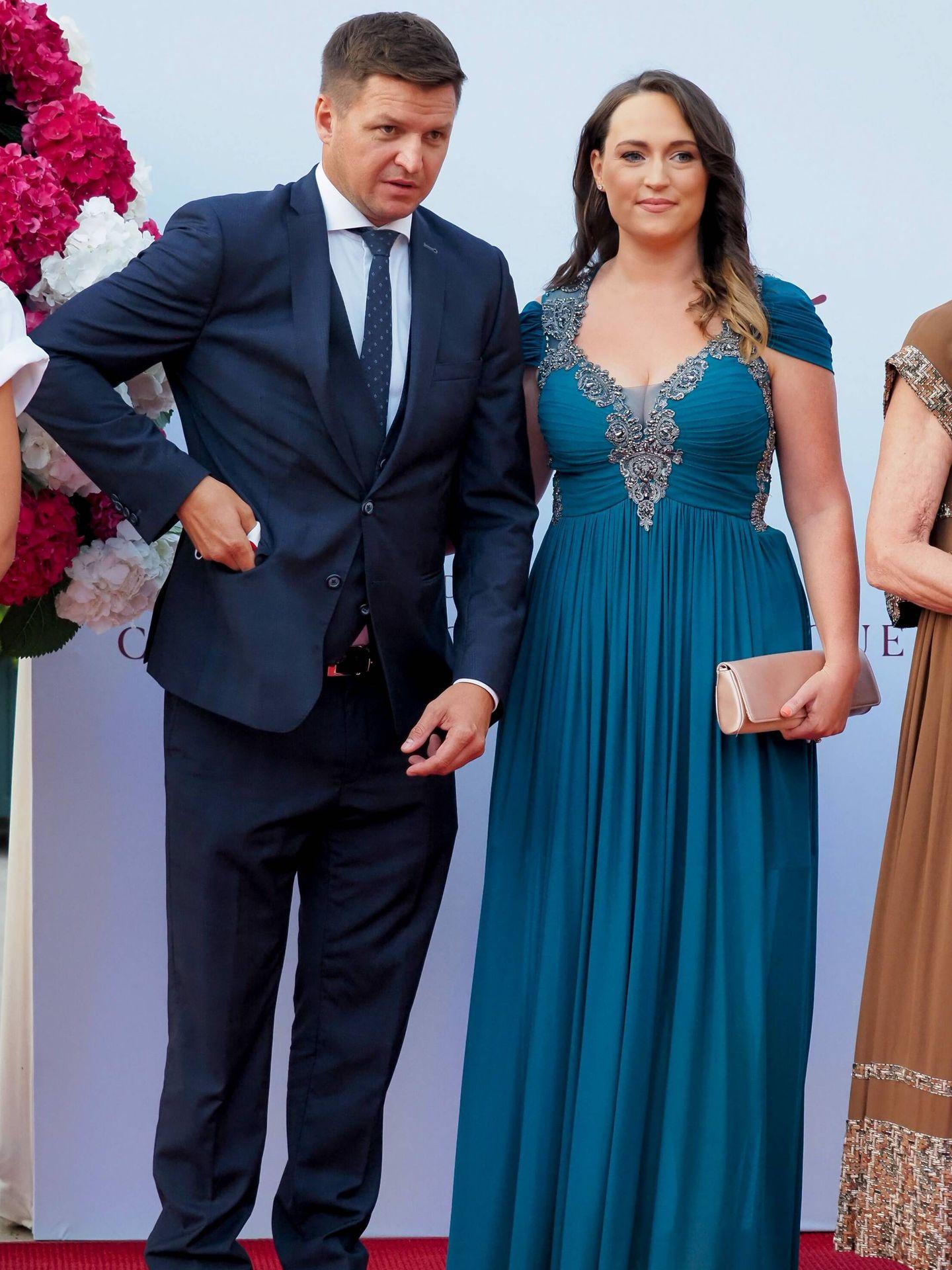 El hermano de Charlène, Gareth Wittstock, y su esposa, Roisin Galvin. (CP)