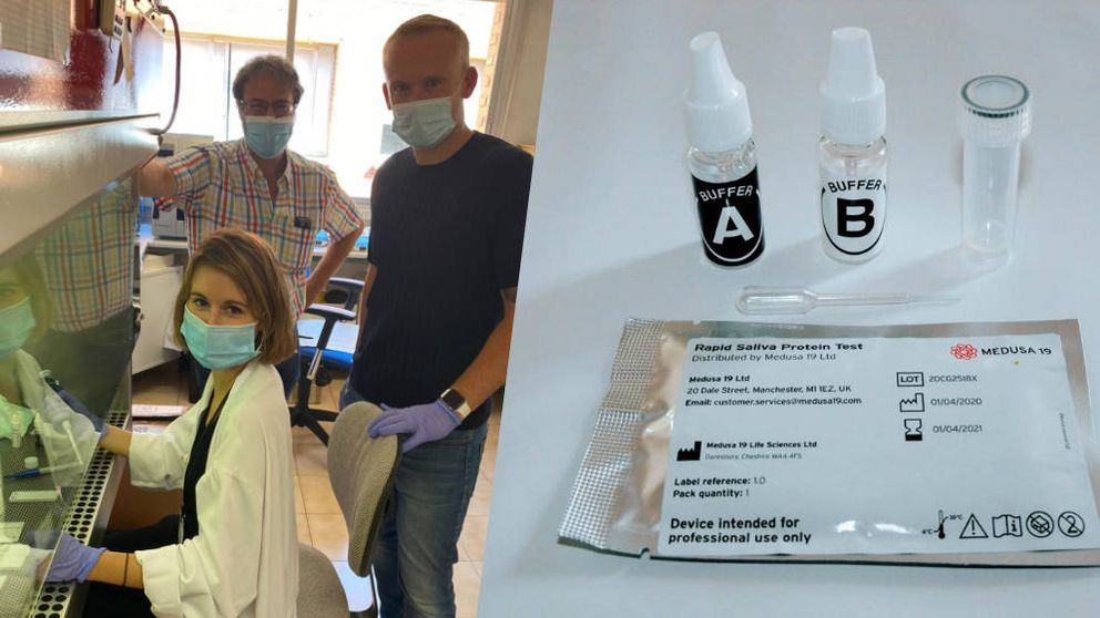 Test de saliva para detectar el covid: la idea española que ya usan los aeropuertos de UK