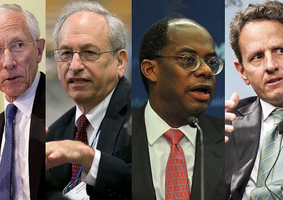 Foto: Yanet Yellen, Stanley Fischer, Donald Kohn, Roger Ferguson y Timothy Geithner