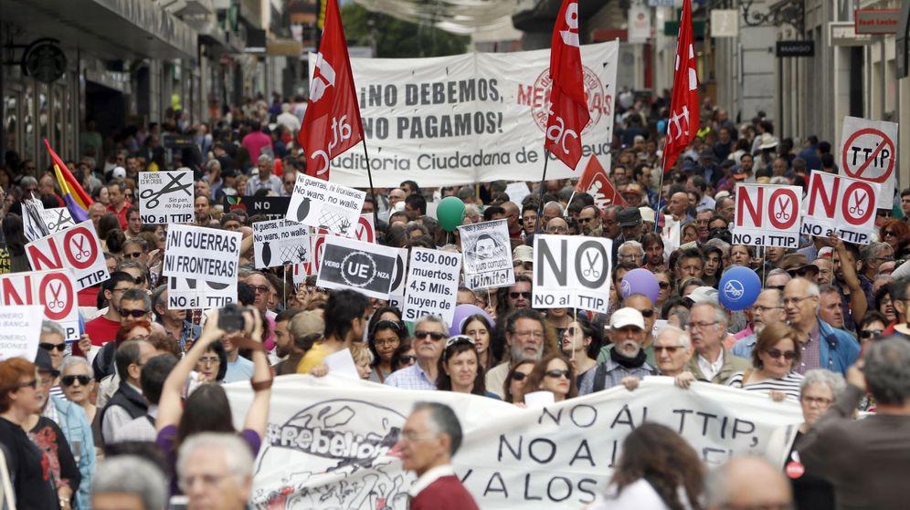 Foto: El TTIP y la presencia de Obama resucitan las 'Marchas de la Dignidad'. (EFE)
