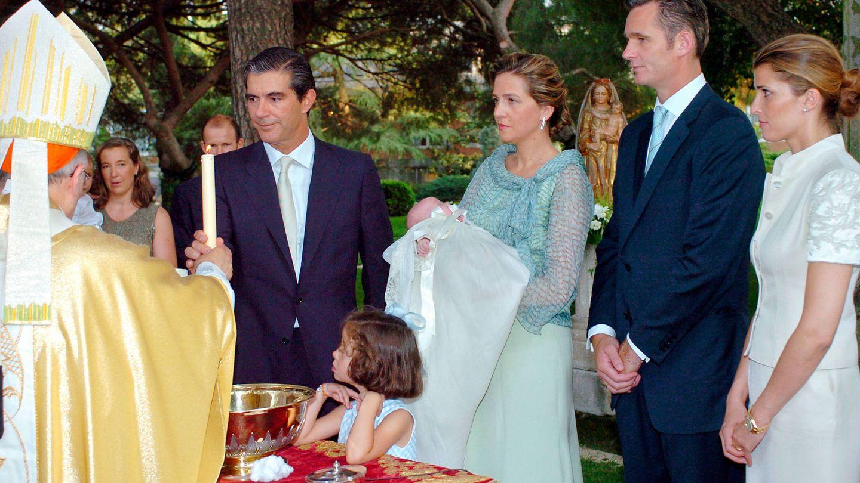 Rosario Nadal en el bautizo de Irene Urdangarin Borbón. (Getty)