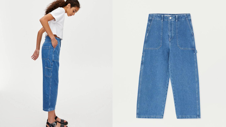 Los jeans carpenter más favorecedores de Pull and Bear. (Cortesía)