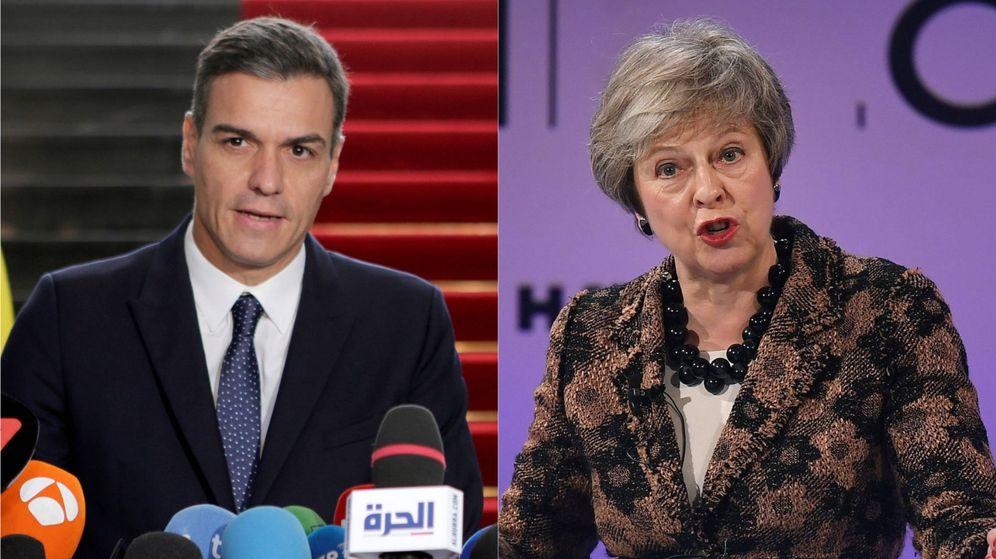 Foto: Pedro Sánchez y Theresa May. (El Confidencial)