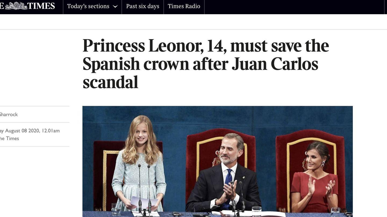 Artículo en The Times. (Captura).