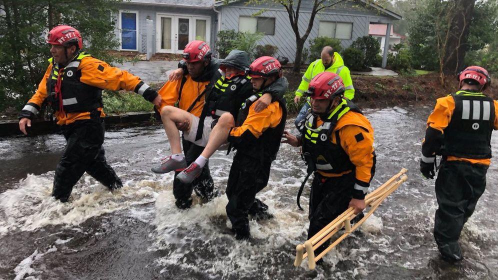 Foto: La costa este de los Estados Unidos ya sufre los primeros efectos del huracán Florence