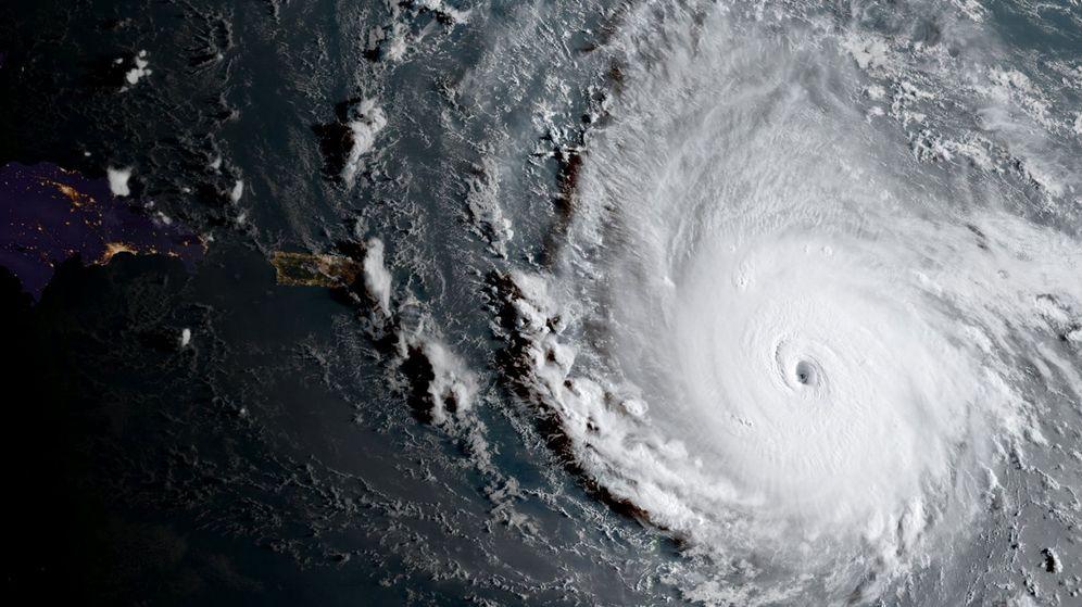 Foto: El poderoso huracán Irma, categoria cinco. (EFE)