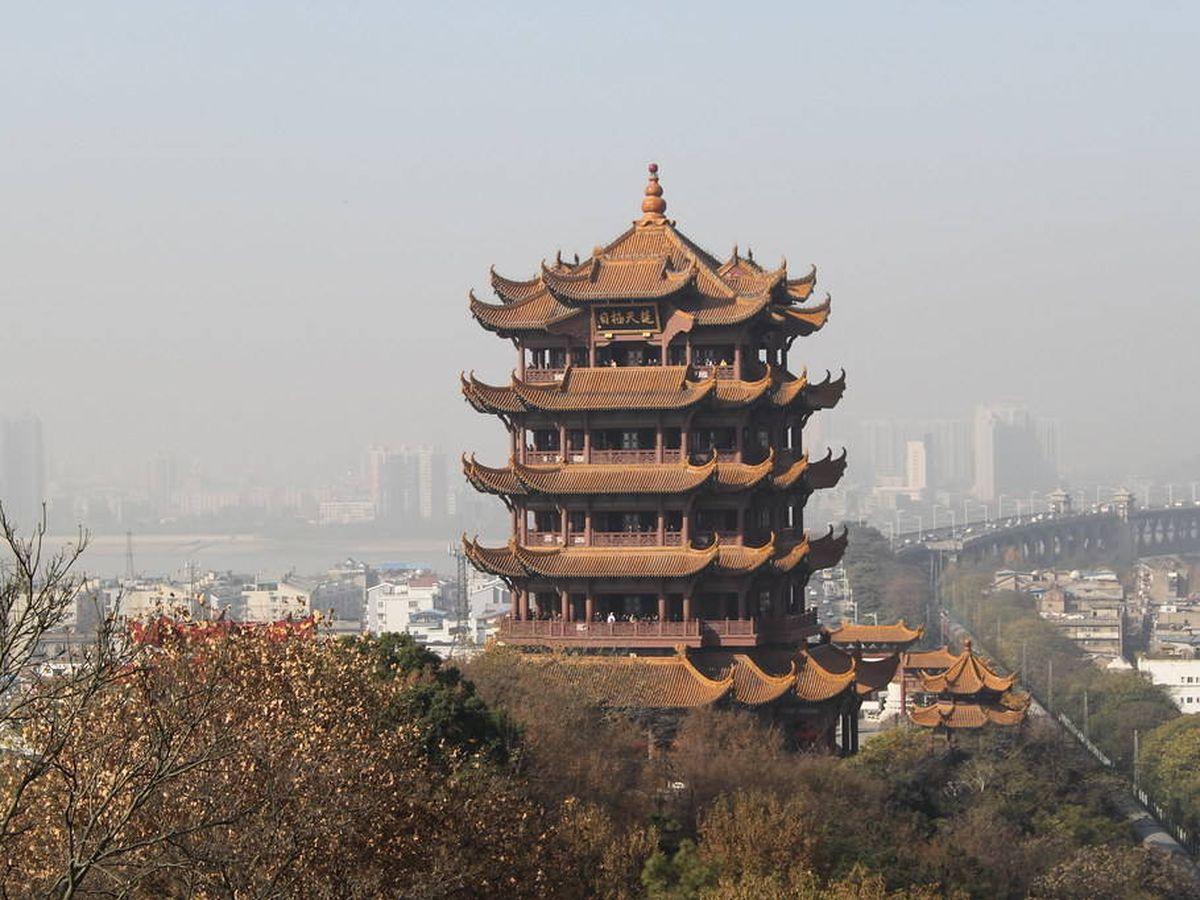 Foto: La Torre de la Grulla Amarilla, el edificio más reconocible de Wuhan. (CC/Flickr)