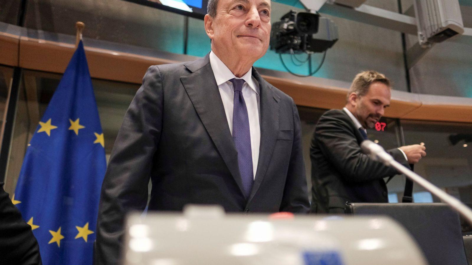 """Draghi (BCE): la incertidumbre sobre las perspectivas de inflación está """"alejándose"""""""