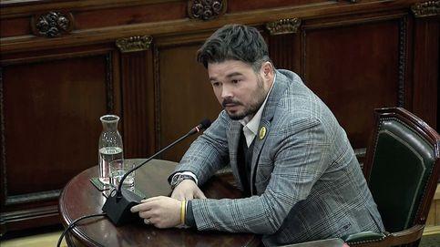 Gabriel Rufián se enzarza con Vox en el juicio del 'procés', pero responde a sus preguntas: Me parece una vergüenza