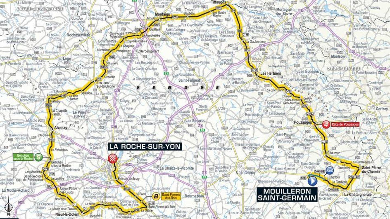 Recorrido de la segunda etapa | Tour de Francia 2018