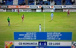 Aquelarre de goles en Segunda: Numancia y Lugo empatan ¡a seis!