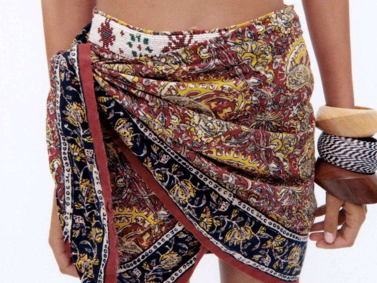 Foto: La falda pareo de Zara. (Cortesía)
