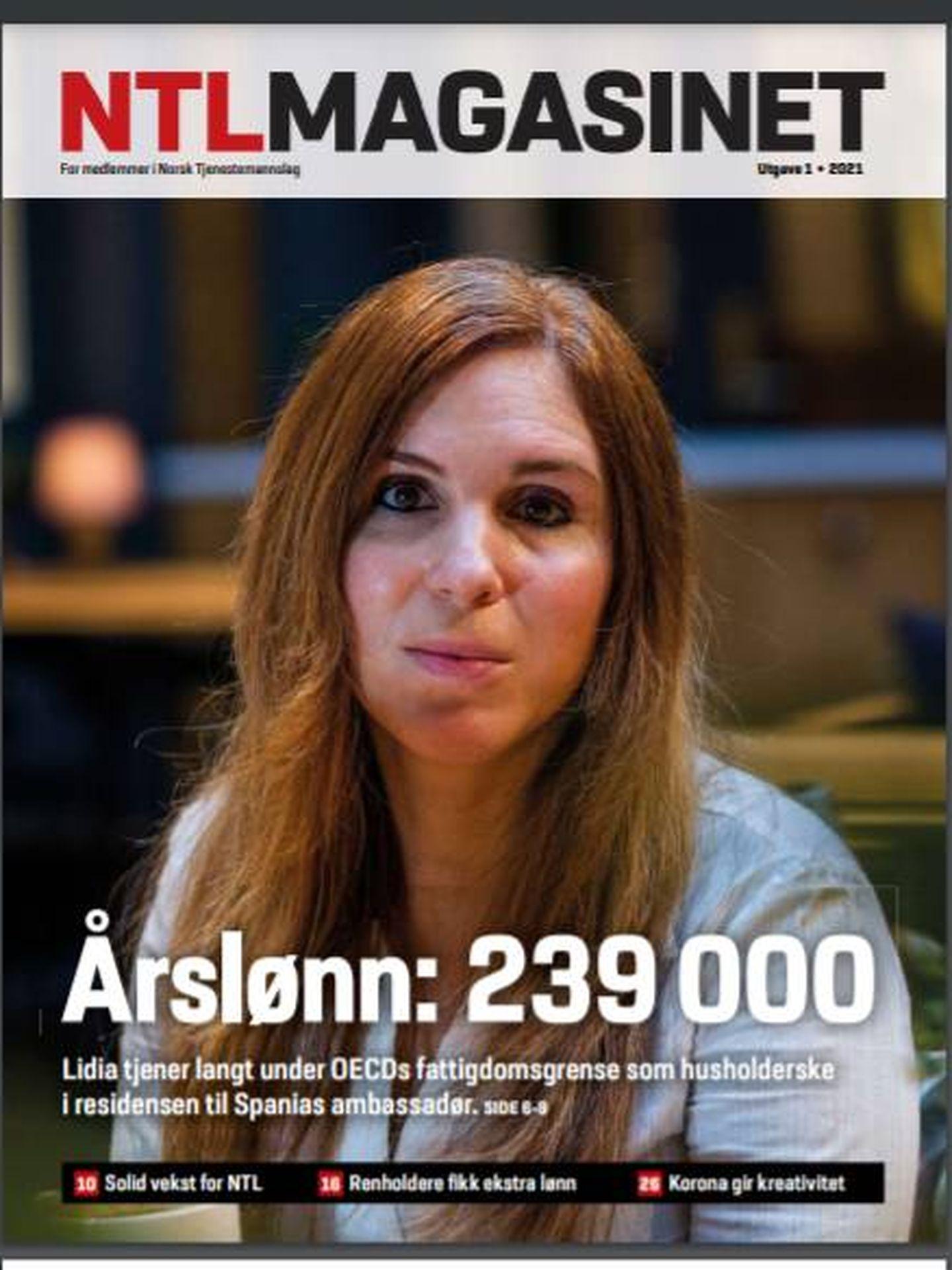 La portada de la revista con el reportaje sobre Lidia
