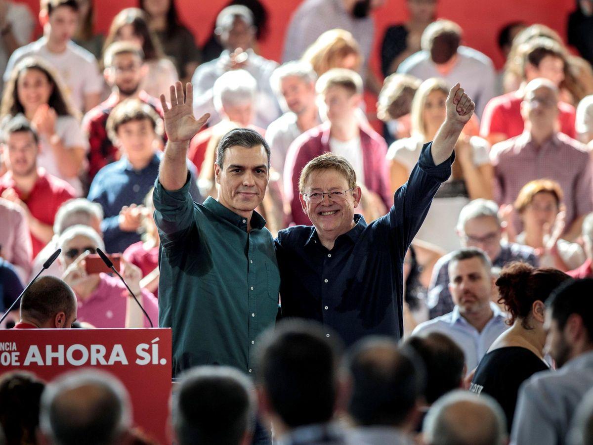 Foto: El mitin de campaña del PSOE de las generales de 2019 en Mislata. (EFE)