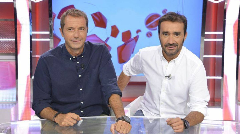 Manu Carreño y Juanma Castaño, en 'Deportes Cuatro'. (Mediaset)