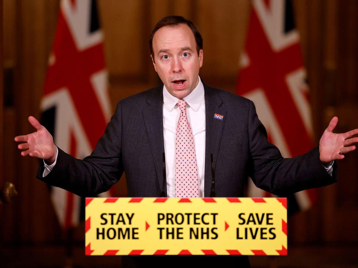 Foto: Secretario de Salud de Reino Unido. (Reuters)