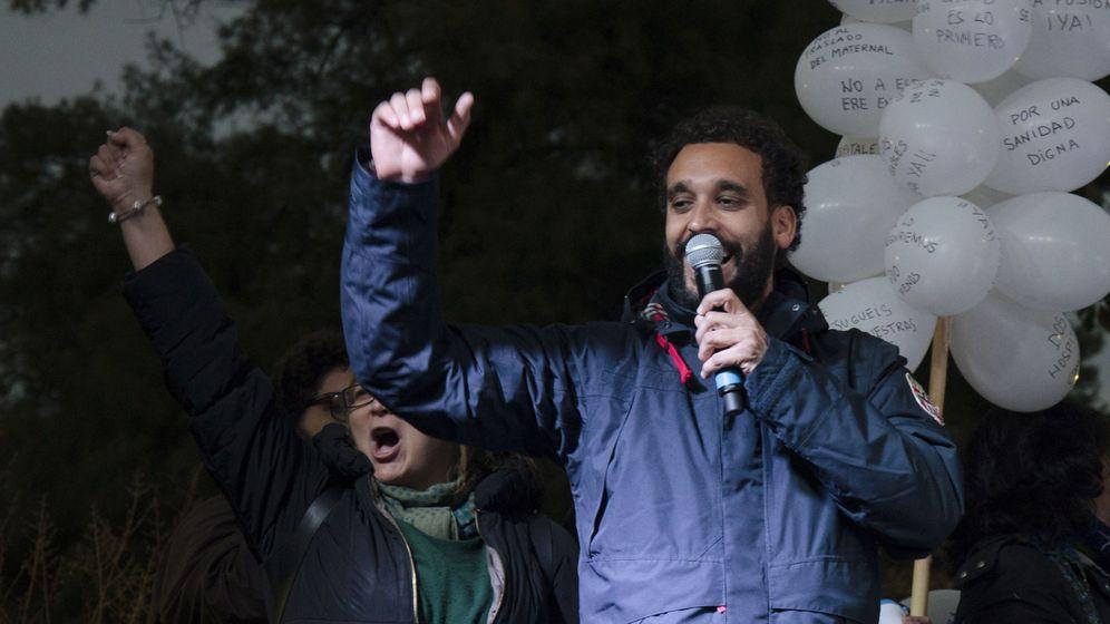 Foto: Jesús Candel, 'doctor Spiriman', en una manifestación. (EFE)