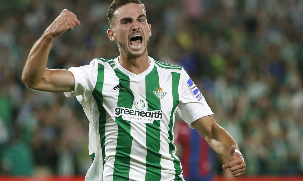 Foto: Fabián celebra un gol marcado con el Betis. (EFE)